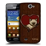 Head Case Cat In A Heart Wood Craft Back Case Cover For Samsung Galaxy W I8150