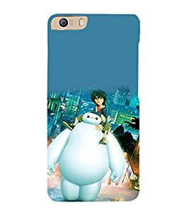 printtech Disney Pixar Big Hero Back Case Cover for Micromax Canvas Knight 2 E471