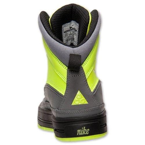 NikeNIKE BIG KIDS WOODSIDE 2 (GS) BASKETBALL SHOES 524872 (6, VOLT/ BLACK- COOL GREY)