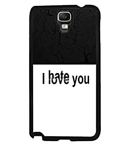Fuson 2D Printed Love-Hate Designer back case cover for Samsung Galaxy Note 3 Neo - D4289