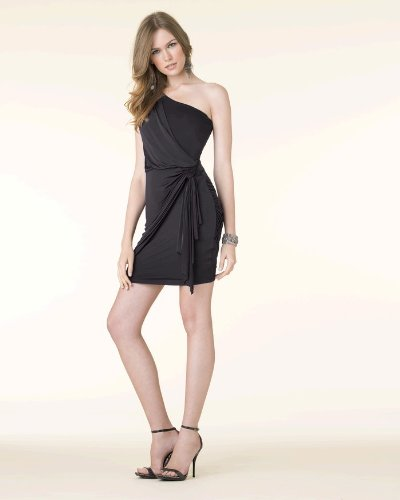 Gathered One-Shoulder Dress by Spiegel