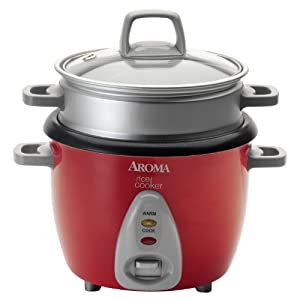 Aroma ARC-733-1NGR 6-Cup Rice Cooker & Food Steamer