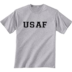 USAF Air Force Short Sleeve T-Shirt in gray