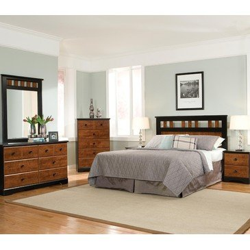 Standard Furniture Steelwood 5 Piece Panel Headboard Bedroom Set