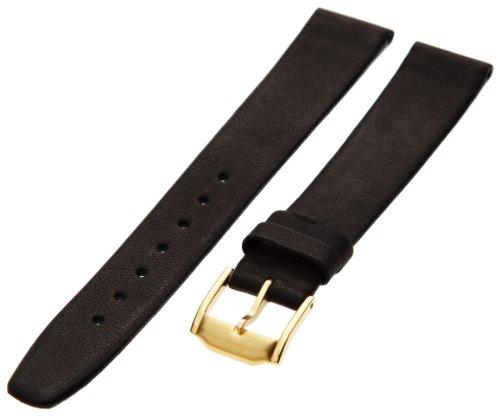 Hadley-Roma Men'S Msm976Ra-160 16-Mm Black Genuine Calfskin Leather Watch Strap