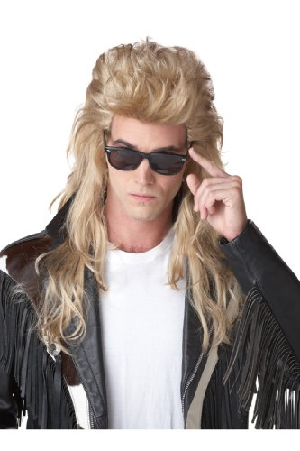 California Costumes 80S Rock Mullet Wig, Blonde,