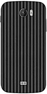 Snoogg Grey Lines Designer Protective Back Case Cover For Micromax A110