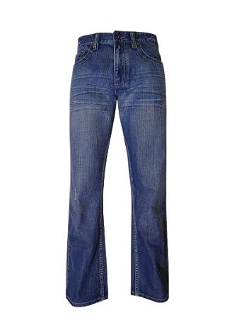 Flypaper Men's Boot Cut Jeans 30X30 Med Blue