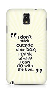AMEZ i dont think out of the box Back Cover For Samsung Galaxy Note 3