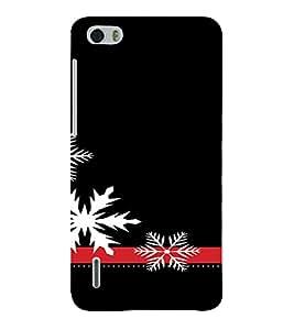 PrintVisa Snow Crystal Design 3D Hard Polycarbonate Designer Back Case Cover for Huawei Honor 6