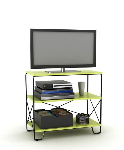 Cheap Flat Panel LCD TV Stand with 3 Tier Lime Shelves (AZ00-49037×21337)