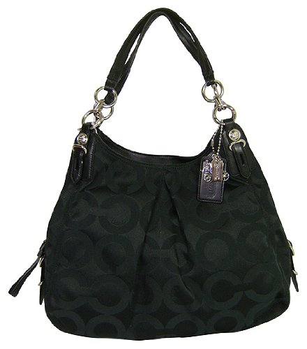 Coach Mia Black OpArt Large Maggie Handbag