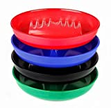 Tzipco's 4 Pack Round Plastic Cigarette Cigar Tabletop Ashtray Colors Assorted