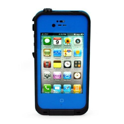 ELENKERTM IPX68 Waterproof Shockproof DirtProof SnowProof DustProof Durable Protective Case Cover for Apple iPhone 4 iPhone 4S (Dark Blue) (Iphone 4 Lifeproof Case Blue compare prices)