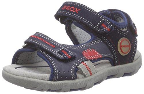 Geox Bimbo, Scarpe Primi Passi, B Sandal Pianeta C, Multicolore (Multicolor (Navy / Red)), 21