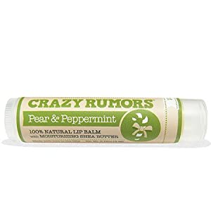 Crazy Rumors Candy Cane Lip Balm, Pear & Peppermint