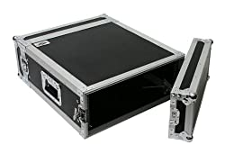"OSP RC4U-20 4 Space ATA Effect Amp Rack Flight Case 19"" Wide 20"" Deep"