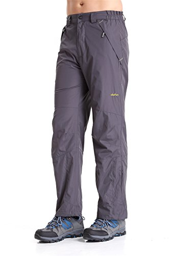 Clothin Mens Snow Pants / Fleece Lined Ski Pants / Waterproof(US S,Gray) (Fly Insulated Pants compare prices)