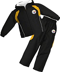Pittsburgh Steelers Kid's 4-7 Full-Zip Hooded Jacket and Pant Set