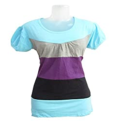 revin skyblue multi colour tshirt