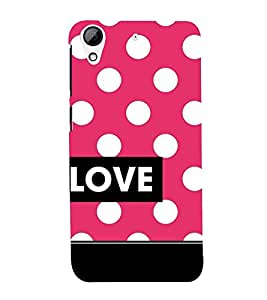 Love Dot Pattern 3D Hard Polycarbonate Designer Back Case Cover for HTC Desire 728G Dual Sim::HTC Desire 728G::HTC Desire 728