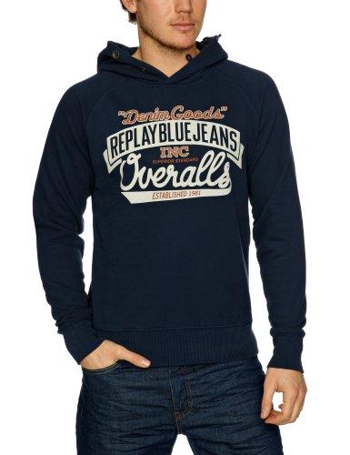 Replay M6043 Men's Sweatshirt Navy XX-Large
