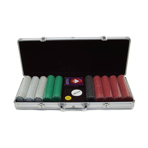 Trademark Poker 500 11.5-Gram Suited Poker Chip Master Set in Silver Aluminum Case