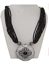 Multi Layered Black Seed Bead Necklace