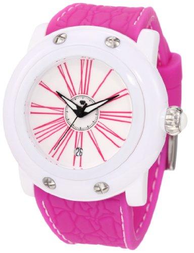 Glam Rock Mujer GK1002 Miami Beach White Dial Magenta Silicone Reloj