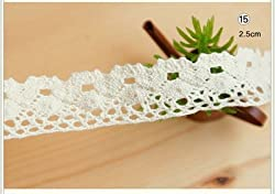 New Knitted Cotton Lace Ribbon Beige Color,5 Yard/Piece,DIY Handmade,Wedding Party/Craft & Gift Packing/Child Dress/Decoration HB003 No15 1pcs 5 yard