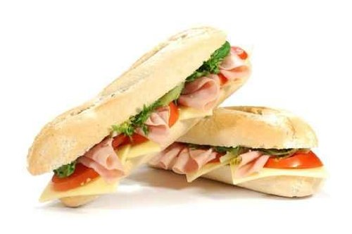 Food Wall Decals Sub Sandwiches - 18 Inches X 12 Inches - Peel And Stick Removable Graphic