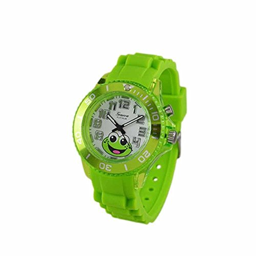 Geneva Kids Silicone Light Up Watch Lime Green