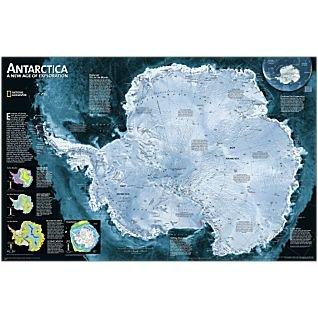 antarctica-wall-map