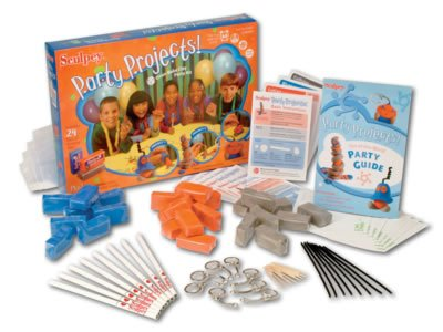 Sculpey Party Projects - Oven-Bake Clay Party Kit for 8 party guests, 24 projects (3 each)