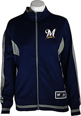 Milwaukee Brewers Safe Slide Women's Navy Blue Jacket