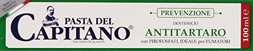 Pasta del Capitano - Dentifricio Antitartaro con Pirofosfati, Ideali per Fumatori - 100 ml