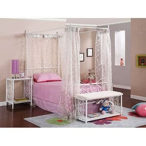 Canopy Wrought Iron Princess Bed