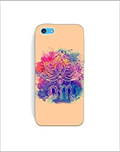Apple Iphone 5c nkt-04 (45) Mobile Case by Mott2 - Rangoli Colorful Om (Limited Time Offers,Please Check the Details Below)