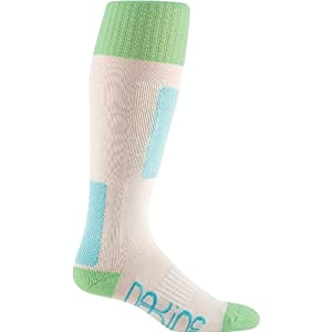Dakine Women's Highback Socks, White, Medium/Large