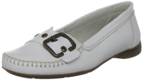 Gabor Women's Ascari Leather White Naht Beige Ballet 42.522.50 6.5 UK