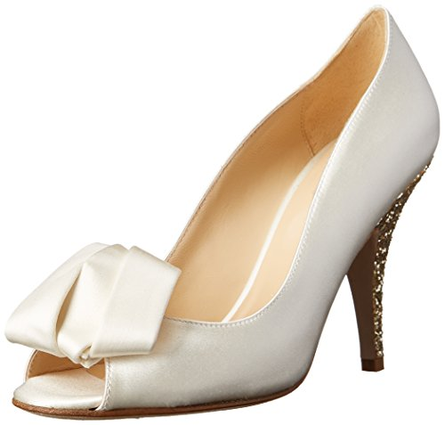 kate spade new york Women's Clarice Dress Pump,Ivory/Platinum Glitter Heel,5.5 M US (Platinum Heels For Women compare prices)