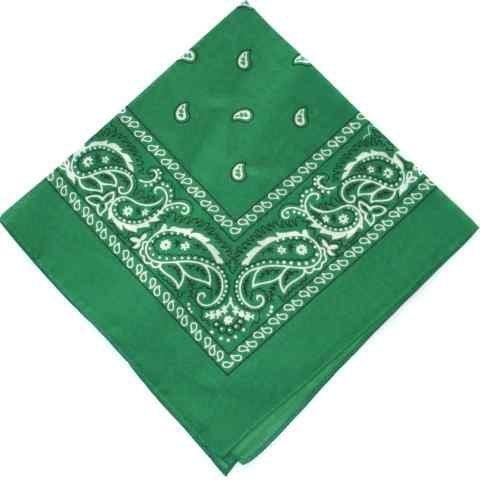 kelly-dark-green-cotton-bandana-scarf-square-black-white-paisley