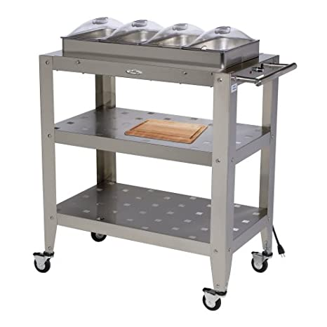 BroilKing WBC-4SLP Family Size Buffet Cart with Clear Lids