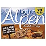 Alpen Light Chocolate And Fudge Bar 5X21g