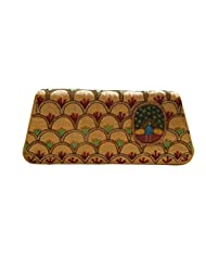 Spice Art Golden Hand Painted Embroidered Clutch