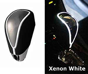 iJDMTOY Touch Activated Xenon White LED Light 90mm M8x1.25 Shift Knob For Lexus Toyota Scion