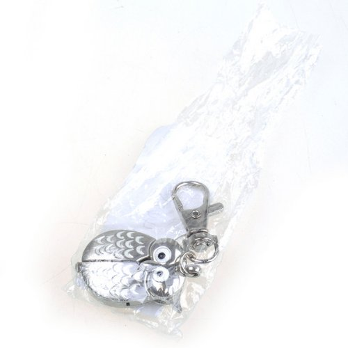 Bestdealusa Silvery And White Alloy Owl Shape Stainless Pendant Pocket Watch