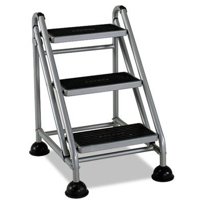 Cosco 11-834Ggb1 Three Step Rolling And Folding Step Ladder Grey front-980173