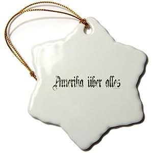 orn_60808_1 Mark Andrews ZeGear Cool - Amerika Uber Alles - Ornaments - 3 inch Snowflake Porcelain Ornament