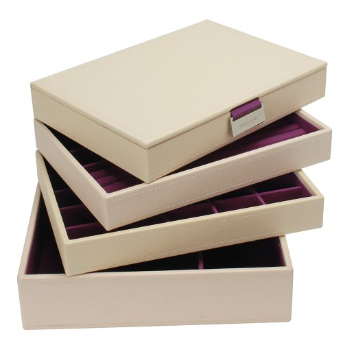 Stackers Jewelry Box Storage System - Cream
